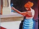 Bonbon 2, detail (Projet bonbonnière, 2005). Huile sur planche/ Oil on board