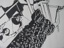 Soin 1, detail (I Heart Lygia Clark, 2011). Encre sur papier / Ink on paper