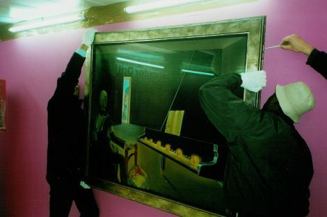 Montage de l'exposition Dali - 1/7