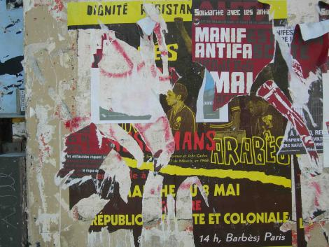 Paris, 2010. Decolonial poster vs. anti-fascist poster © Mogniss H. Abdallah